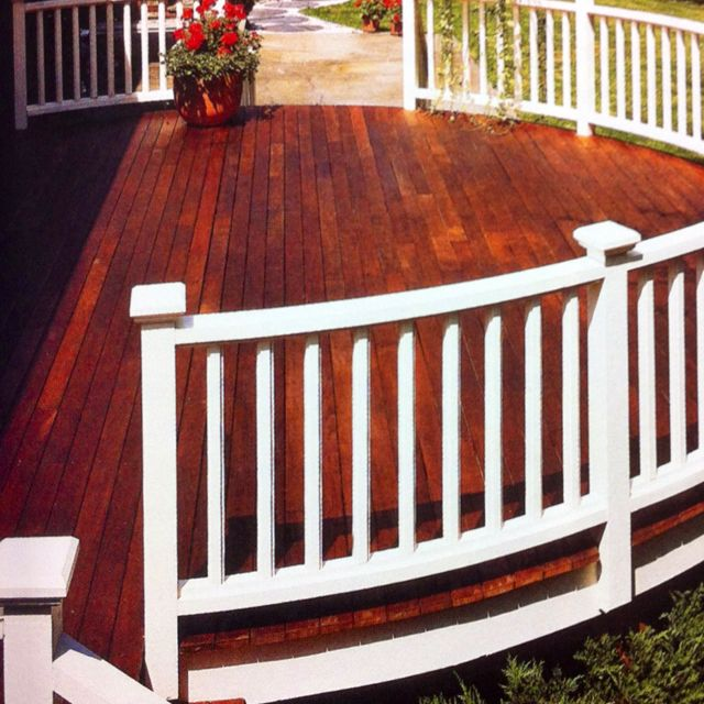 Painted Railings And Stained Decking Hit The Deck