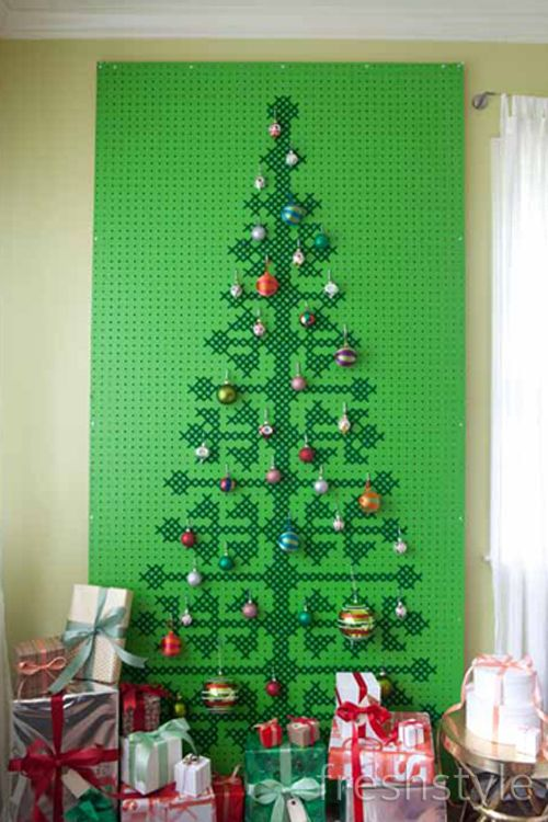 Cross Stitch Pegboard Christmas Tree Part 2 Christmas