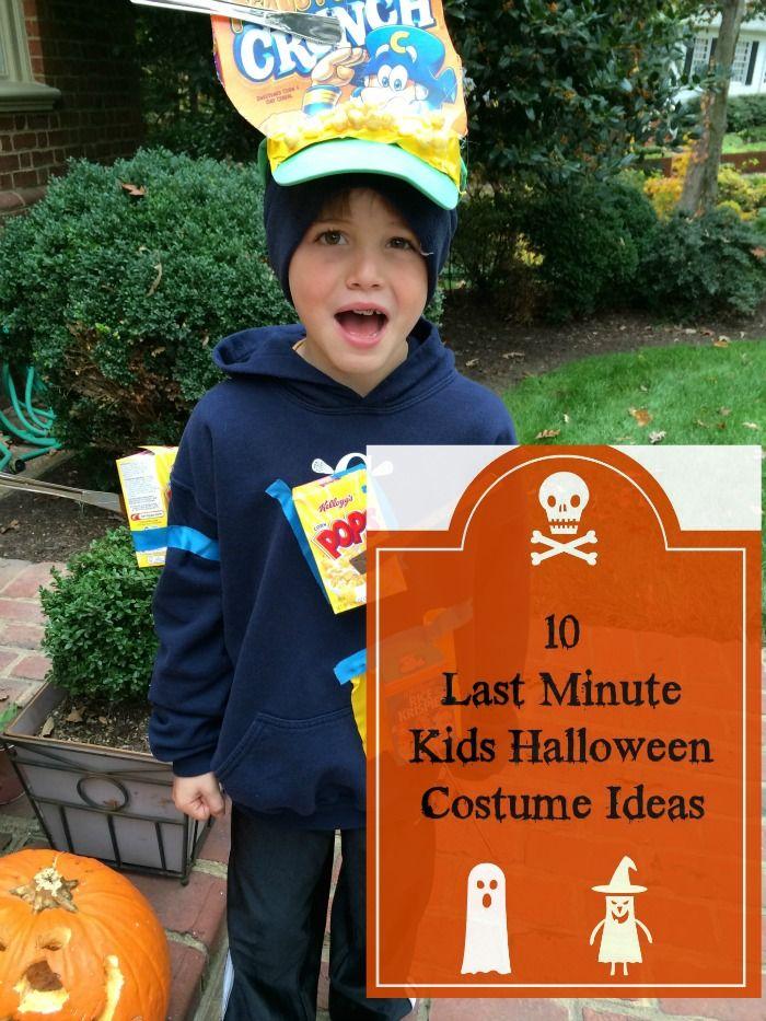 Last Minute DIY Kids Halloween Costumes Kid, Last minute