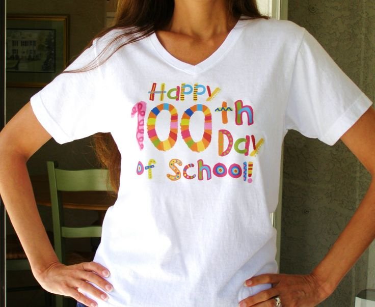 Download Free 100th Day of School T-Shirt Design. | Teaching ...