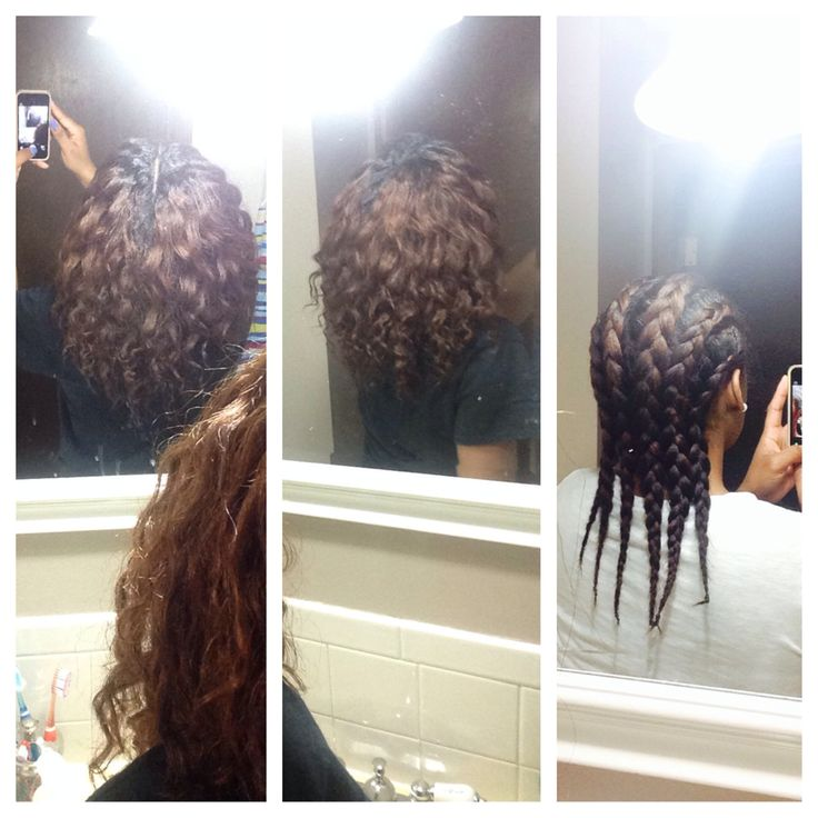 This Is A Braid Out I Did On My Relaxed Hair Using Cantu