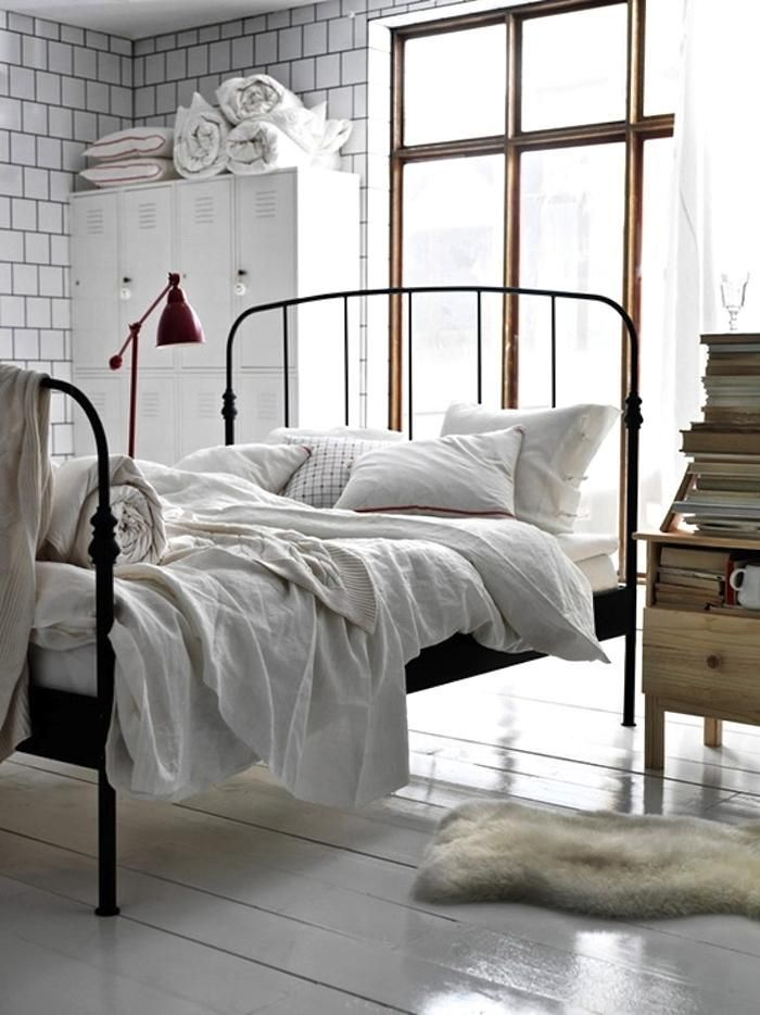 25 Best Ideas About White Iron Beds On Pinterest