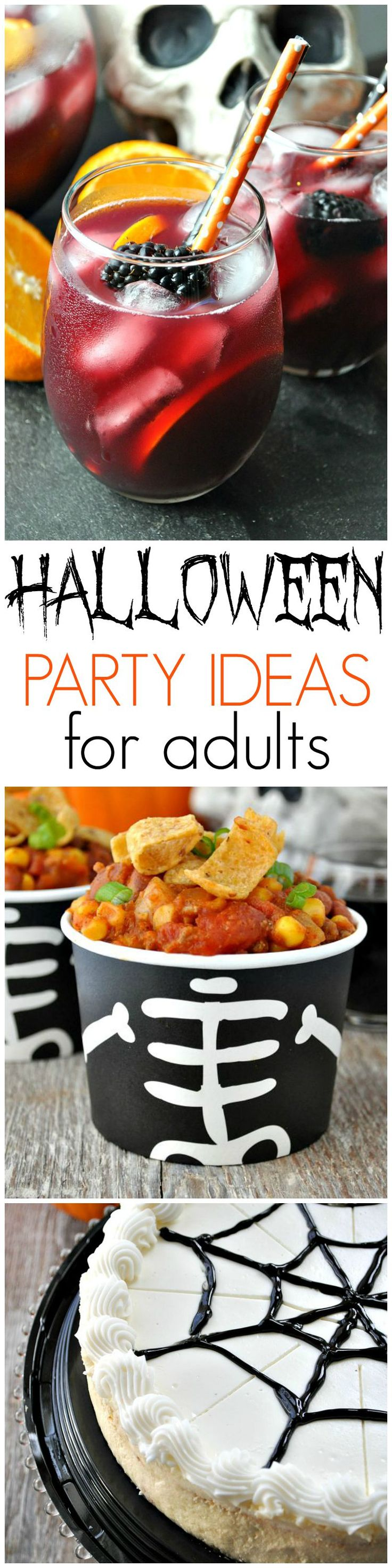 Slow Cooker Pumpkin Chili + Halloween Party Ideas for