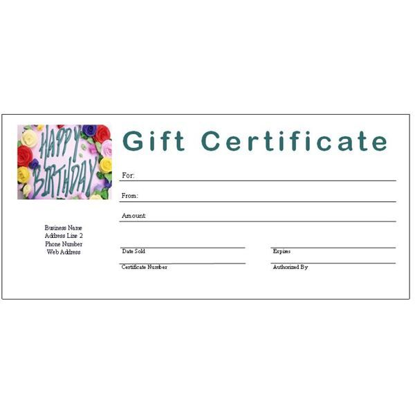 Gift Certificate Template Free Fill In Free Printable Gift Certificate Templates For Publisher