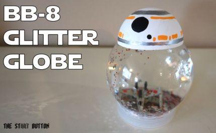 BB-8 Glitter Globe, Force Awakens craft for kids #starwars: