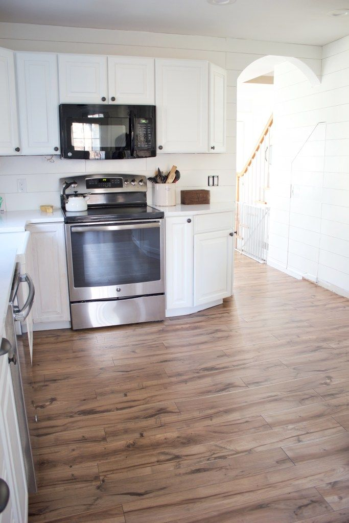 Kitchen Progress Pergo Flooring Before And After