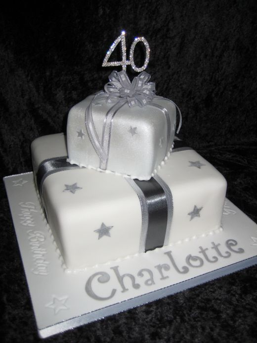 2 Tier Parcel Cake 40th Birthday Great Party Ideas