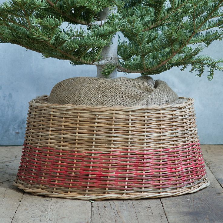Basket Tree Skirt Skirts, Fiber and Stand in
