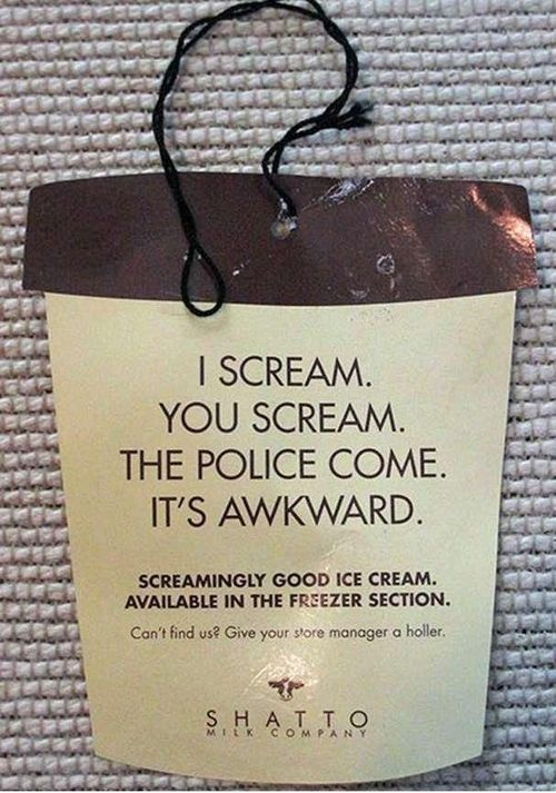 This would be a funny invite to an ice cream social.