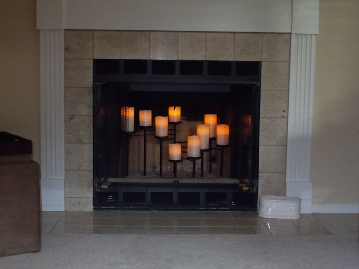 My Crate & Barrel Fireplace Candelabra Has 9 Remote