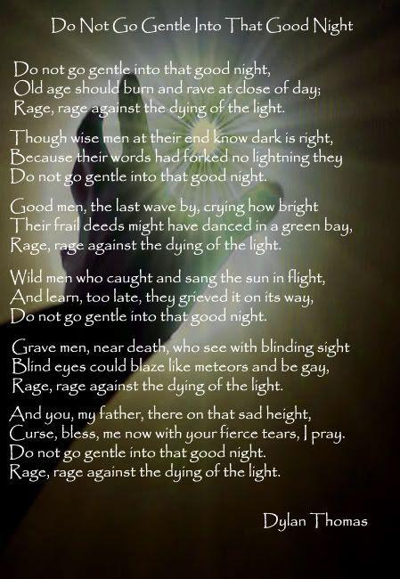 Rage Against Dying Light Poem