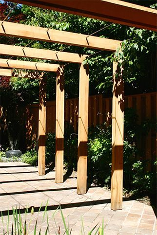 Contemporary Pergola This Very Simple Contemporary