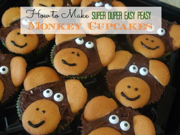 How To Make Monkey Cupcakes