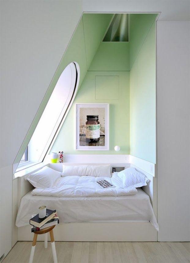 via Earl Grey Blog - what a sweet, cozy little nook: