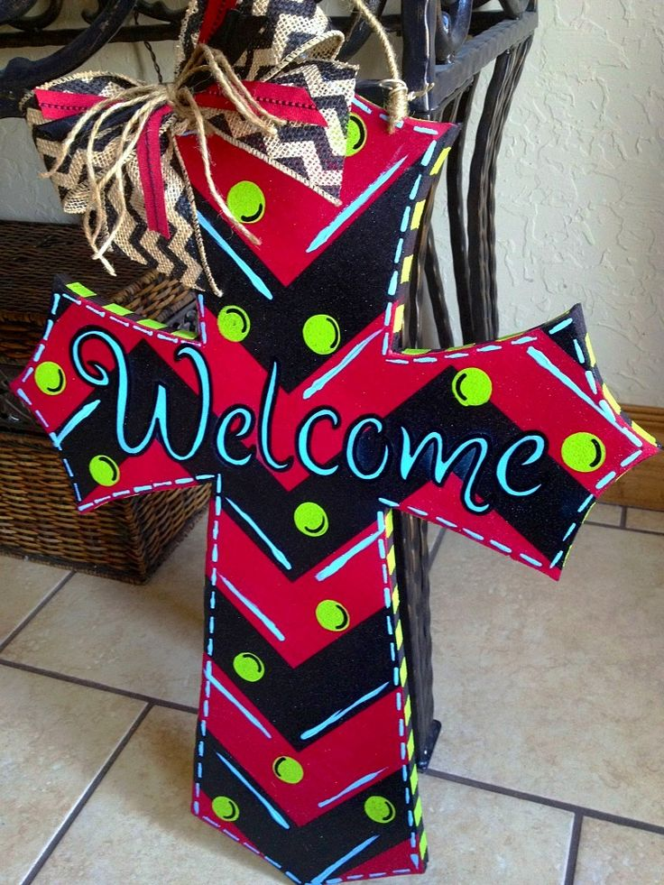 DIY Painted Cross Door Hanger My Finished Projects