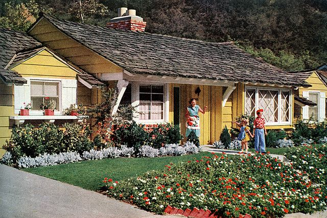 Ad For Ranch Style House 1953 Exterior Home Paint Colors
