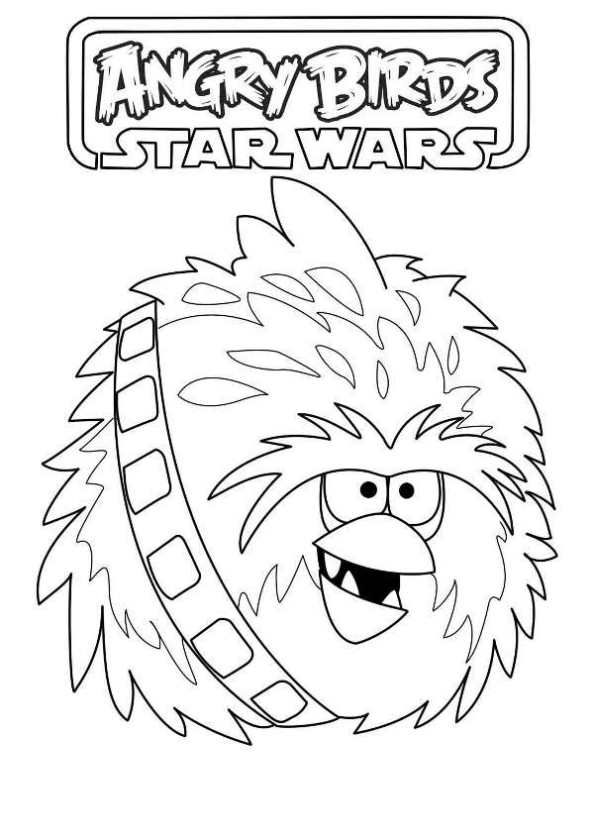 Angry Birds Star Wars Coloring Pages Yoda Free Printable Star Wars