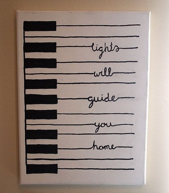 Handpainted Piano With Quot