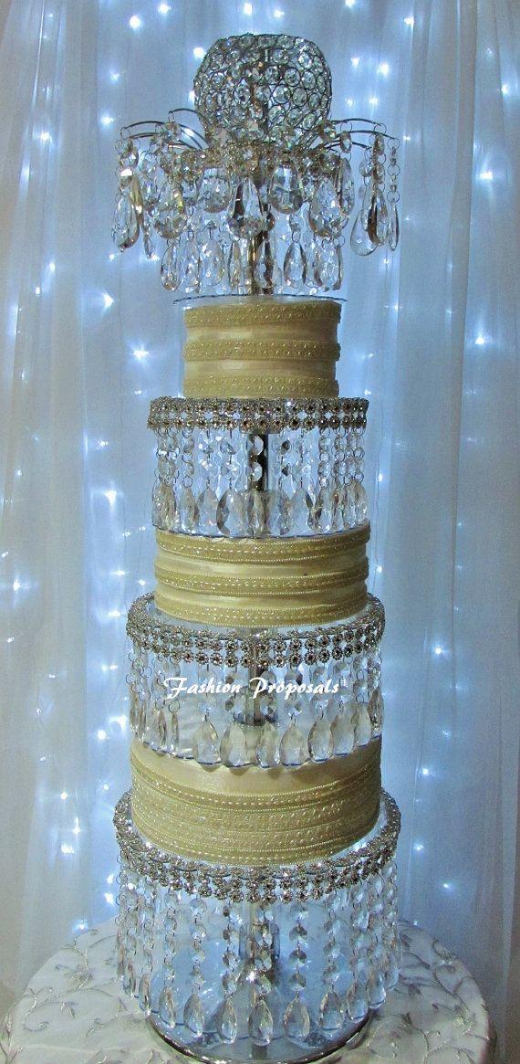 Wedding Crystal Acrylic Cake Stand Lavish TowerThe 4 Tier