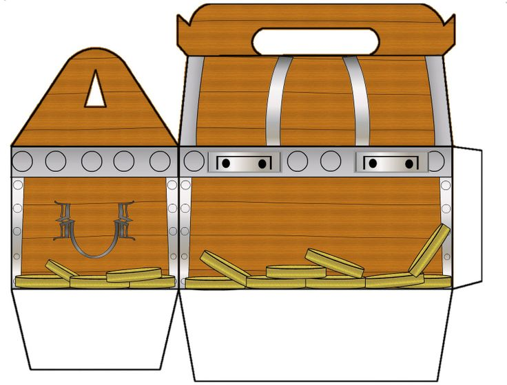 treasure chest page printable on treasure chest template at