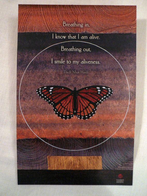 Thich Nhat Hanh Quote Zen Buddhist Breathing In By Tasteliberty 800 Yoga Pinterest