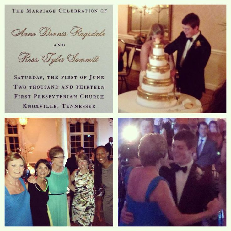 Tylers Wedding 2013 Pat Summitt Pinterest Wedding