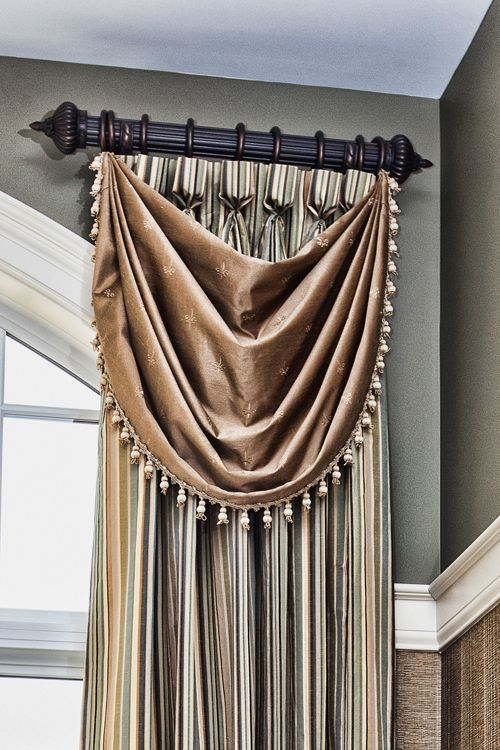 Bibb Swag Over A Drape PanelSource For The Post Click Curtains Pinterest Posts For The