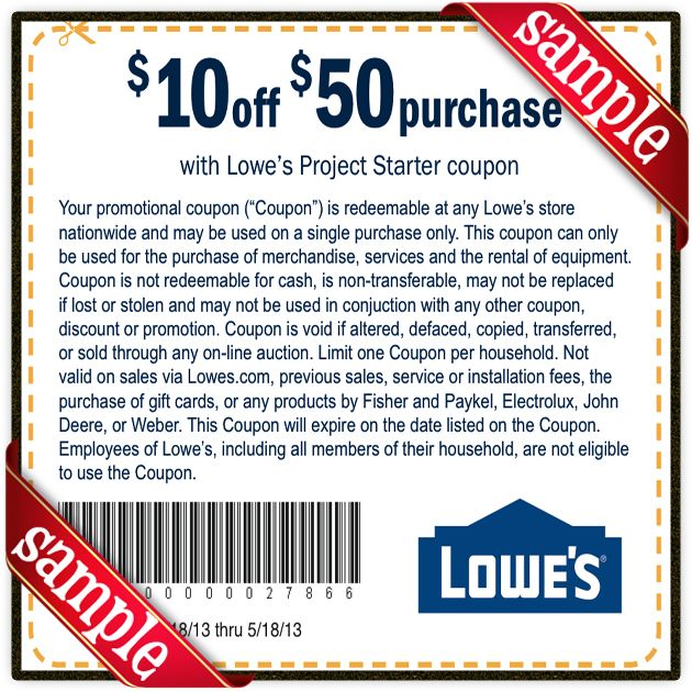 Printable Lowes Coupon 20 Off &10 Off Codes May 2017