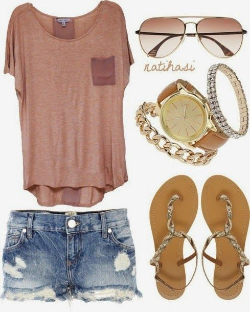 Perfect and Casual Summer Outfit,Try it for Decent Fashion Look