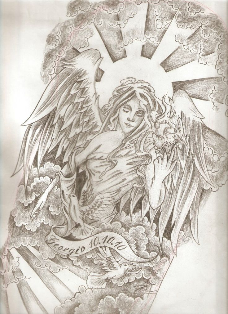 Potential angel tattoo for half sleeve TATTO Pinterest