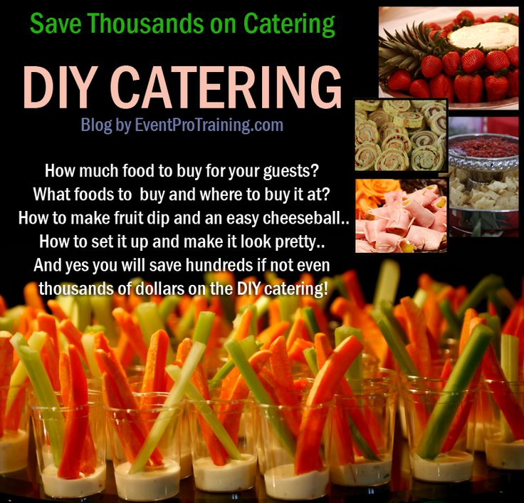 Saving thousands on DIY finger food catering sounds good to me! This blog is awe