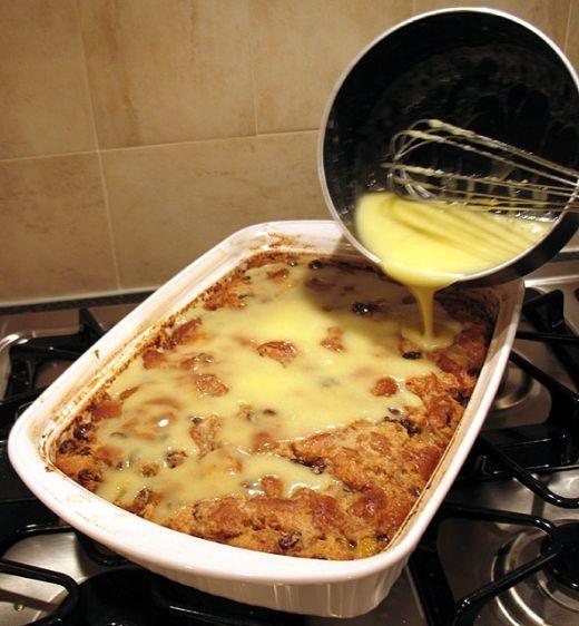 Amaretto bread pudding – delicious