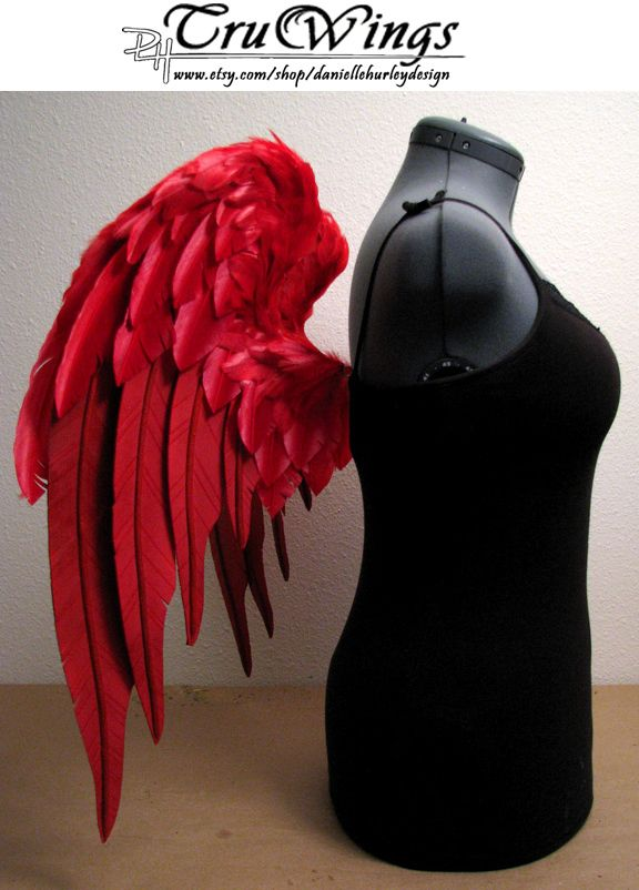 Danielle Hurley Truwings Red Angel Wings Costume Side