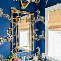 Dream Home Inspiration: Wallpapered Powder Bathroom