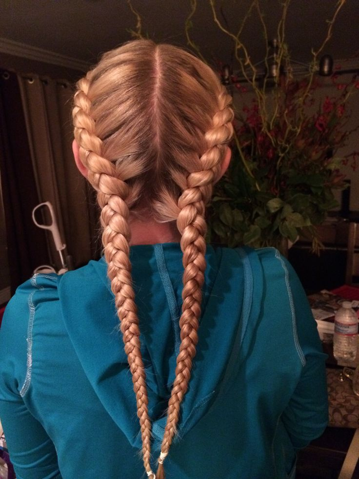 Two French Braids Braids Pinterest Hair Hairstyles