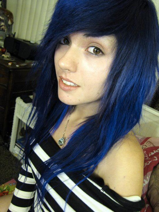 More Gorgeous With Dark Blue Hair Color Pixie Colors