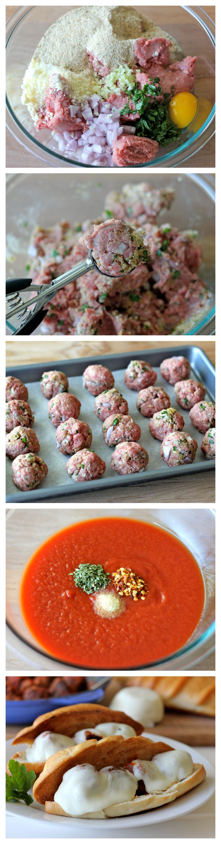 Italian Meatball Sandwiches – The best meatball sub that you can make right at home with an easy homemade marinara!