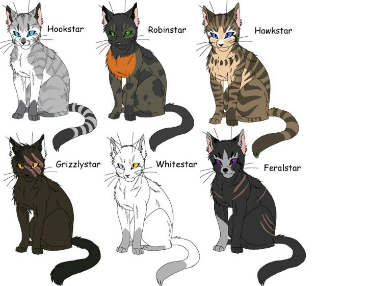 Clan leaders Warrior Cats Pinterest Of