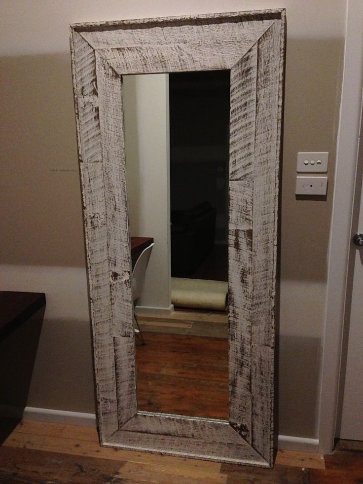 Mirror Frame I Made From Old Fence Palings And Finished