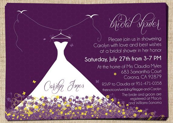 1000 Images About Bridal Shower Invites On Pinterest Champagne Bridal Showers Purple