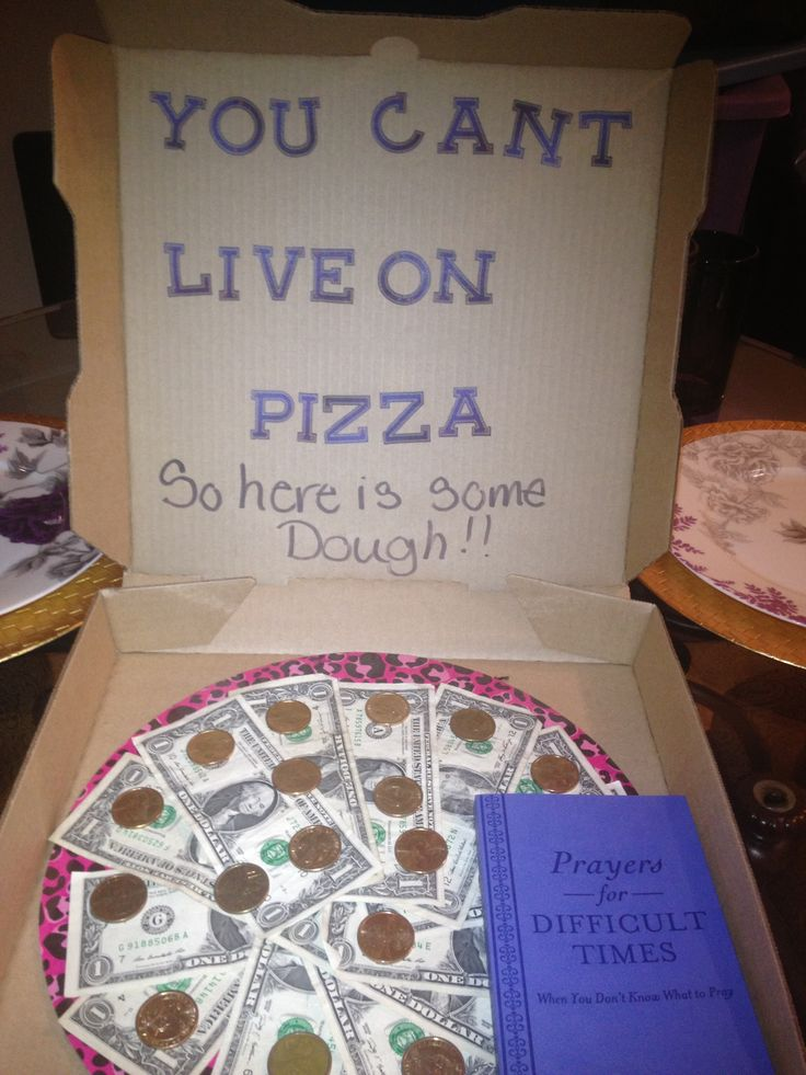 Pizza Money Gift Dough Fun Ways To Give Money