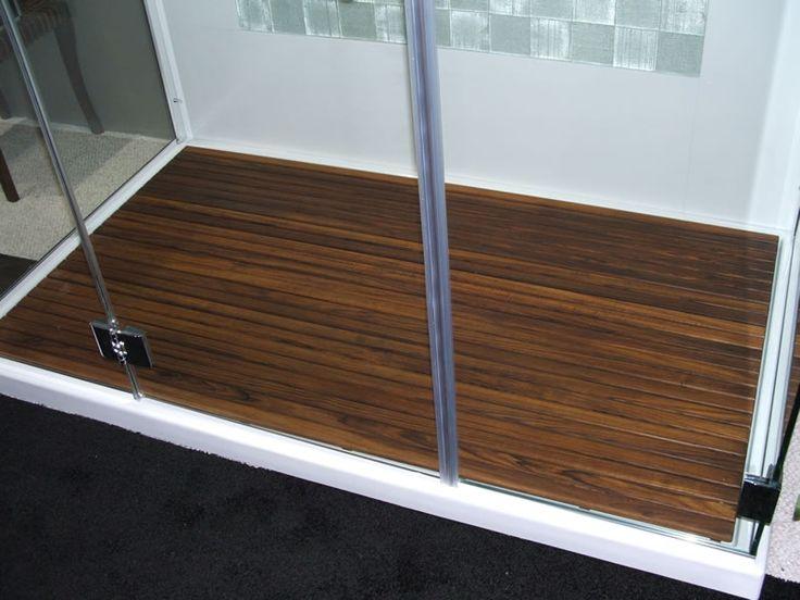 Custom Teak Mat For Walk In Shower The Bath Pinterest