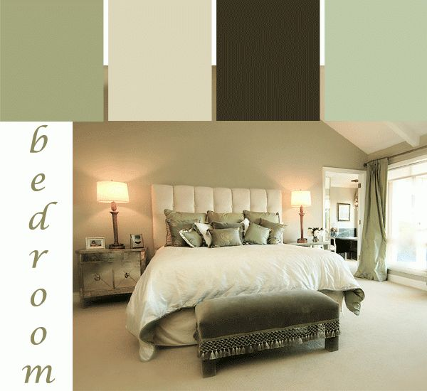 A Tranquil Green Bedroom Color Scheme Paint Colors