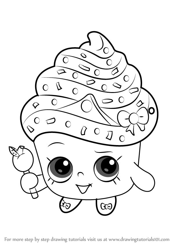 Shopkins Cupcake Queen Cake Tutorial