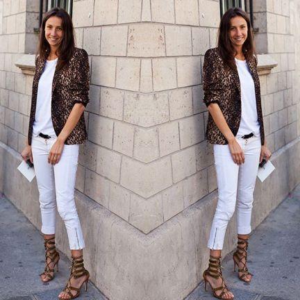 #stealthelook #look #looks #streetstyle #streetchic #moda #fashion #style #estilo #inspiration #blazer #oncinha #calça #cinto #sandalia #tshirt #camiseta #leopard