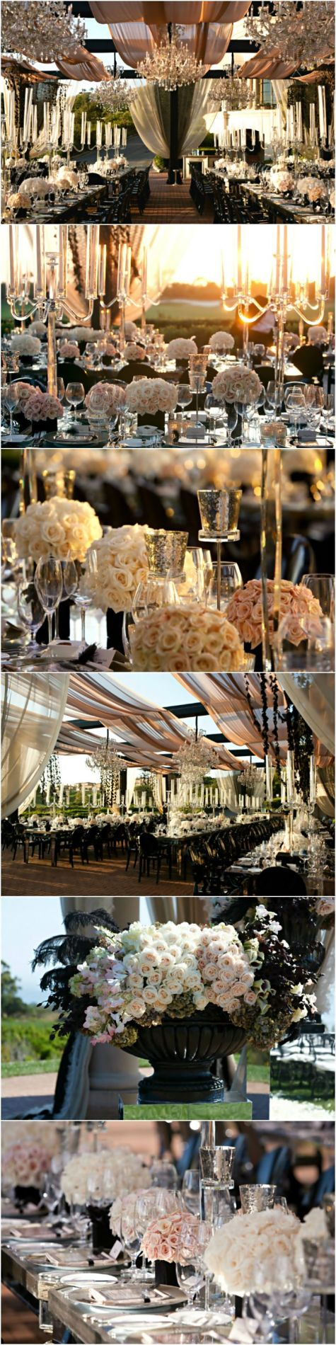 Wedding ● Tablescape & Reception Décor ● Outdoor Elegance # Neutral Wedding ... Wedding ideas for brides, grooms, parents & planners ... https://itunes.apple.com/us/app/the-gold-wedding-planner/id498112599?ls=1=8 … plus how to organise an entire wedding ♥ The Gold Wedding Planner iPhone App ♥: