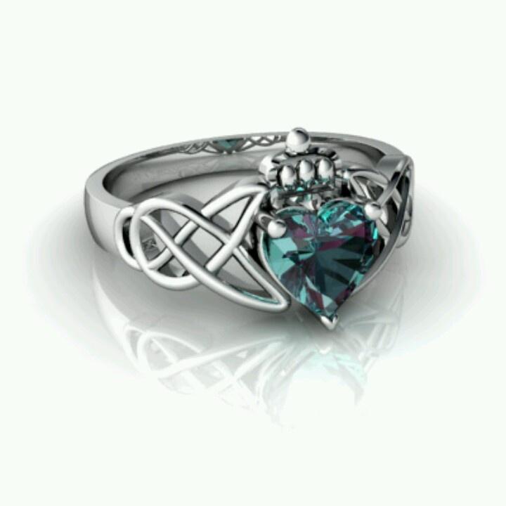 Alexandrite Claddagh Ring JEWELERY Pinterest Celtic