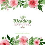 Wedding Invitation Vector Floral