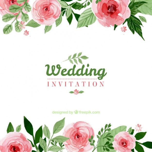 Image Result For Wedding Invitation Vector Floral