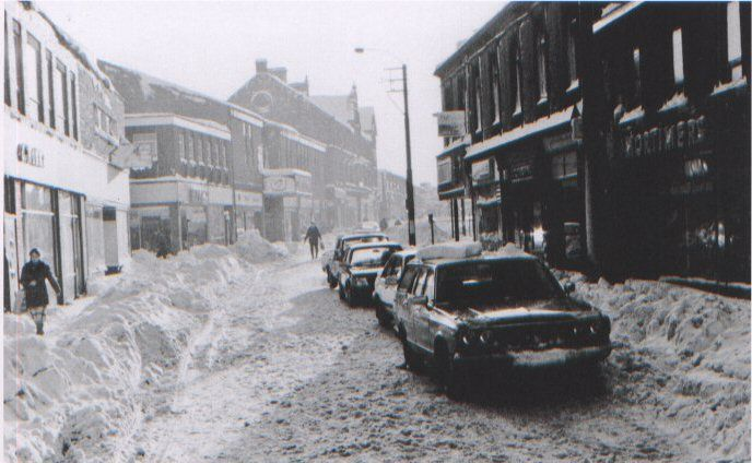 Heavy Snow In Middle Street Consett Consett In Old